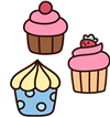 Illustration of three yummy looking cakes: but are they cage-free?